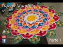 Tapete Redondo de Crochê Mandala parte 1 - Professora Simone