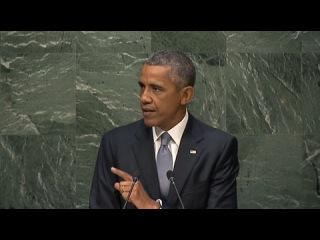 Обама: США заинтересованы в сильной России/ США не стремятся к изоляции Москвы. Напротив, они заинтересованы в сильной России. Об этом заявил американский президент Барак Обама в своем выступлении на сессии Генеральной ассамблеи ООН.)))