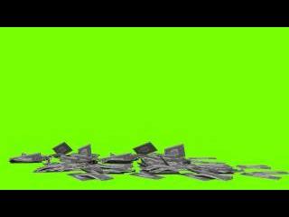 Деньги (Хромакей) Зеленый фон.Футаж