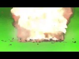 Футаж Взрыв на зелёном фоне