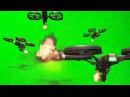 Взрыв. Хромакей (DRAGONFIRE DRONES green screen )
