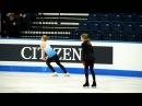 Julia Lipnitskaia FS practice, Junior Worlds 2012