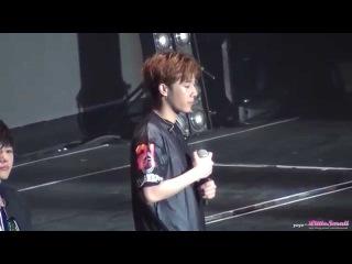 Fancam [150905] Infinite (Sunggyu) Ment • «Infinite Effect» в Тайбэе