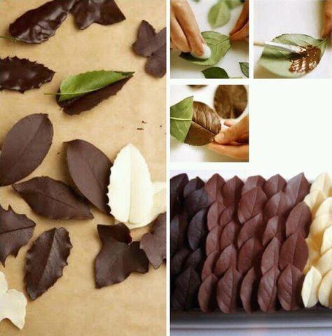 идеи HandMade Sep 4, 2014 at 8:56 pm Шоколадные листья