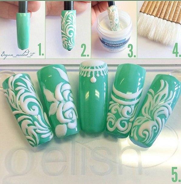 Акриловая пудра для дизайна ногтей прозрачная