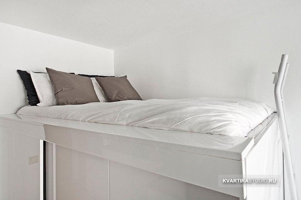 Маленькая квартира 19 м с кроватью-гардеробом в Стокгольме / Швеция - http://kvartirastudio.
