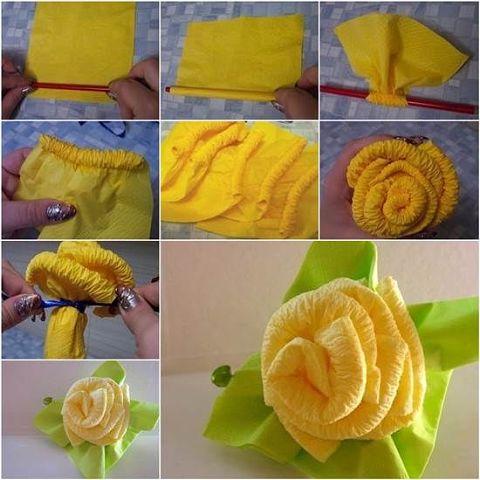 Цветы из салфетки своими руками пошаговое