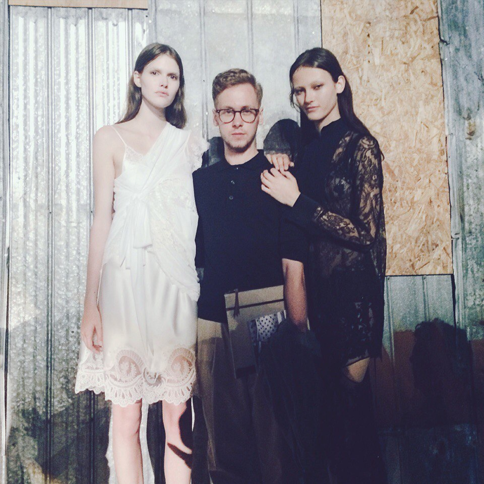Mykola Hruts famous fashion blogger at Givenchy show