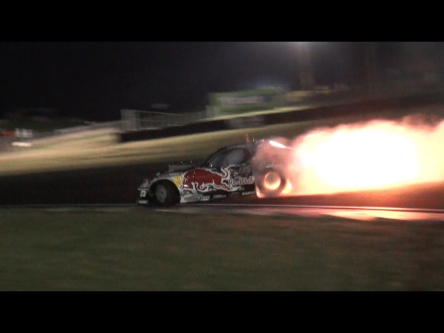 Mad Mike RedBull RX7 Spitting Flames Team NZ Promo 2012