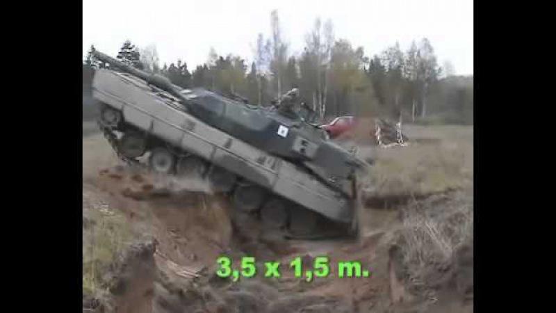 Танк Леопард | Tank Leopard | Un char Leopard traverse un fossé