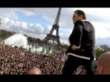 PSY GANGNAM STYLE Paris live flashmob at Trocadero with Cauet (NRJ)
