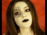 Макияж на хеллоуин Человек  ПАУК.   Образ Spider Halloween. Макияж для тематической вечеринки.