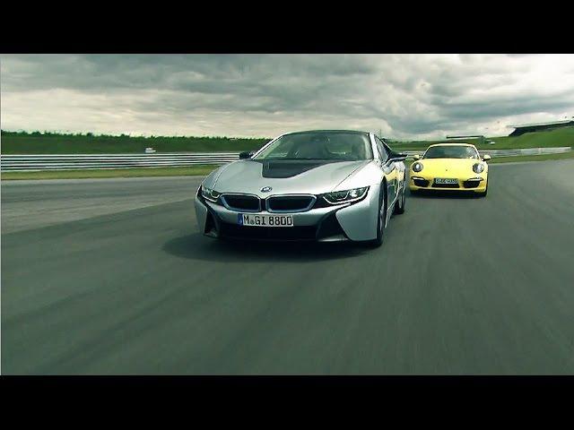 BMW i8 vs Porsche 911 4S Reif für die Rennstrecke
