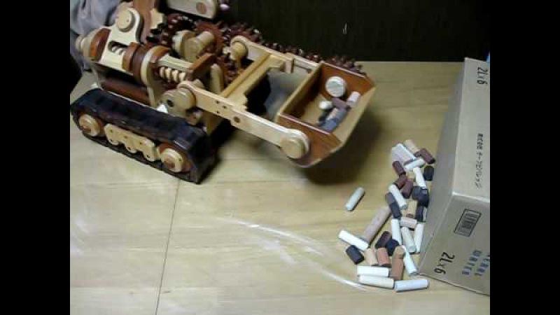 木のドーザショベル2006 Wooden crawler loader (Wooden dozer excavator)