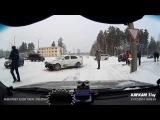 ДТП Skoda vs Mitsubishi - Транспортная - Новая - Снежинск 31 декабря 2014