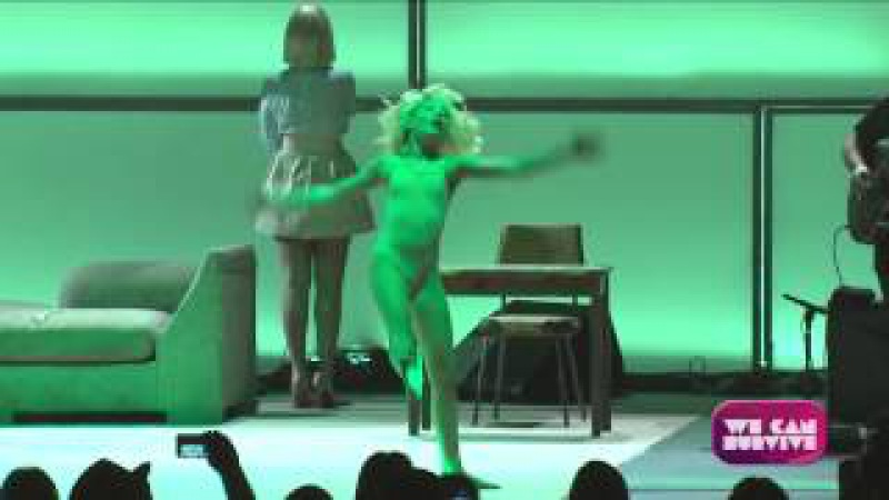 Sia - Chandelier (Live at We Can Survive, Hollywood Ball) SIA SHOWED HER FACE FINALLY