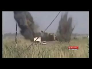 Танк Abrams M1A2. Взрыв противотанковой бомбы под гусеницей не дал желаемых результатов)