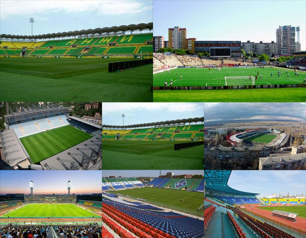 Стадионы и результаты 6 тура Российской премьер-лиги
