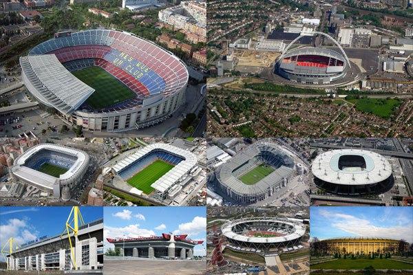 Самые большие стадионы Европы
