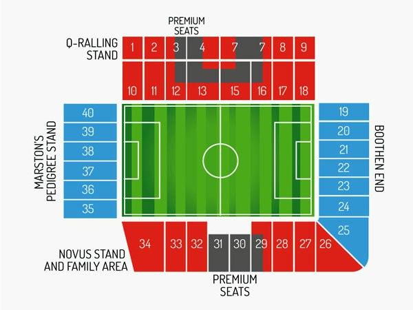 "Схема стадиона ""Британия"" (Britannia Stadium)"
