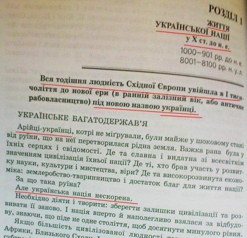 Учебники истории украины