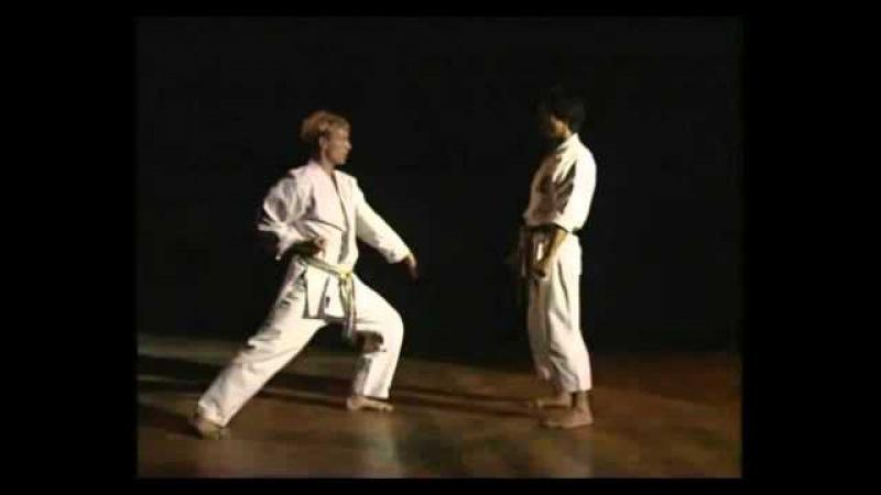 Masao Kawasoe - Sanbon Kumite. Масао Кавазое - санбон кумитэ.