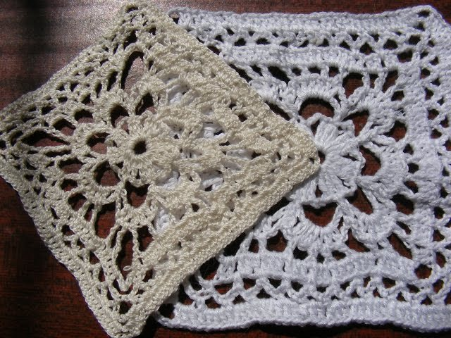 Вязание крючком Ажурный квадрат Оpenwork crochet square