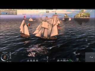 Naval Action Test PvE Fight 6v6 Linx ship