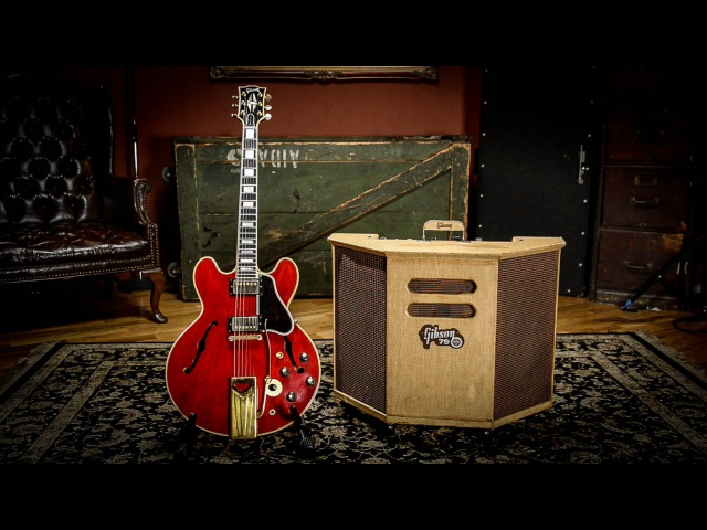 Gibson ES-355 Stereo Cherry 1961 Gibson GA-79RVT 2x10 Combo | Vintage Guitar Demo