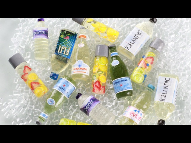 Water Bottles How To Make Miniature Clear Drink Bottles UV Resin Magic Glos Tutorial