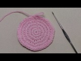 Урок вязания крючком КРУГА. Крючок для начинающих.Lesson crochet circle.
