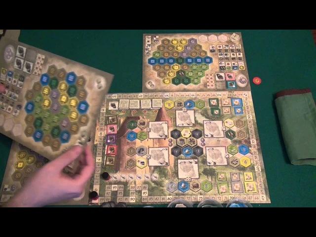 Замки Бургундии - играем в настольную игру, board game The Castles of Burgundy