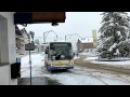 Skibus Volvo B6 carrosserie Berkhof des TPC et ex TRN Chaux de Fonds à Villard Sur Ollon CH