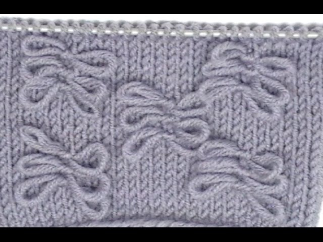 Кnitting pattern bow Узор Мотильки