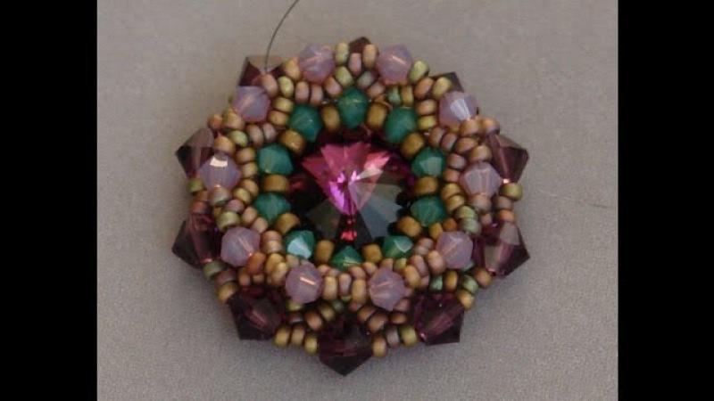 Sidonias handmade jewelry - Swarovski flower pendant
