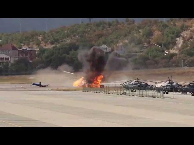 Крушение вертолета МИ 8 в Геленджике (момент катастрофы)