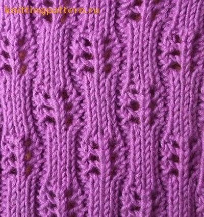 Схемы ажурного вязания на
