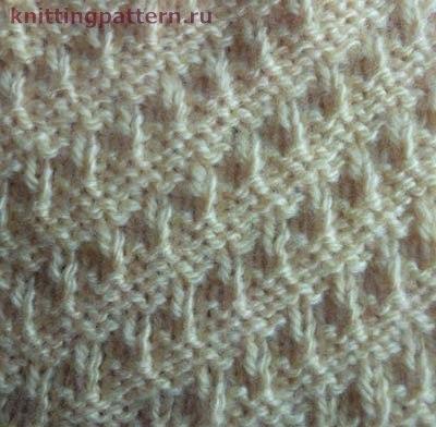 Вязание на спицах образцы Ступеньки (2 фото) - картинка