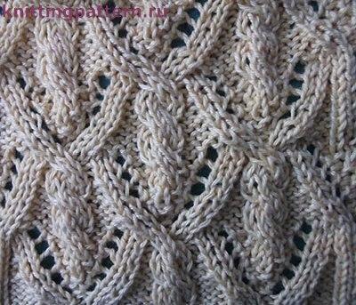 Вязание спицами узоры фото Фонарики (2 фото) - картинка