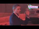 Wentworth Miller exchanges greetings with fans while entering TrevorLIVE LA Hollywood