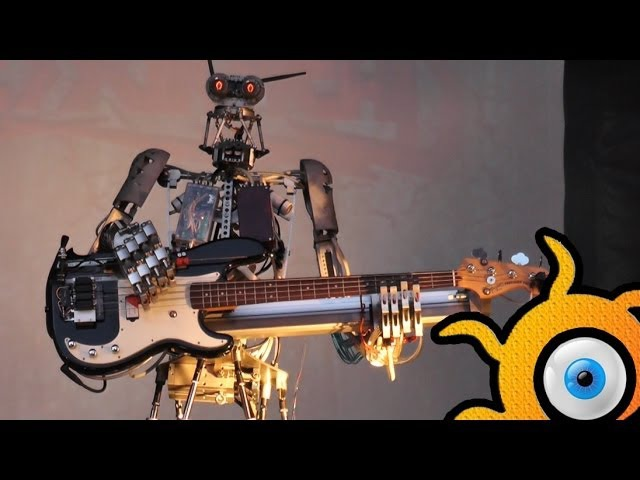 Robot-metal band Compressorhead - FULL! concert in Moscow in 18.05.2014!