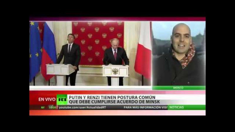 (Vídeo) Italia Las sanciones contra Rusia crean problemas a todos los países