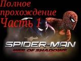 Полное прохождение игры Spider man web of shadows  часть 1