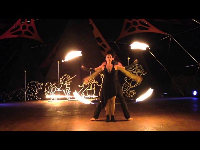 Duo Fire Dance Act Premier ~ Stromboli 2014