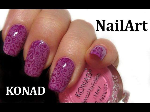 Nail Stamp KONAD (m89) / Крупные рисунки на ногтях, принты, орнаменты