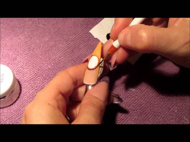 Nail art orologio su tip con applicazione foil oro