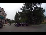 Дедуля на ВАЗе подрезал скутериста - Снежинск 3 июня 2015