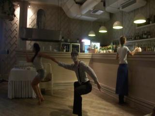 Танец мимов - джайв. Настя Володя..MTS