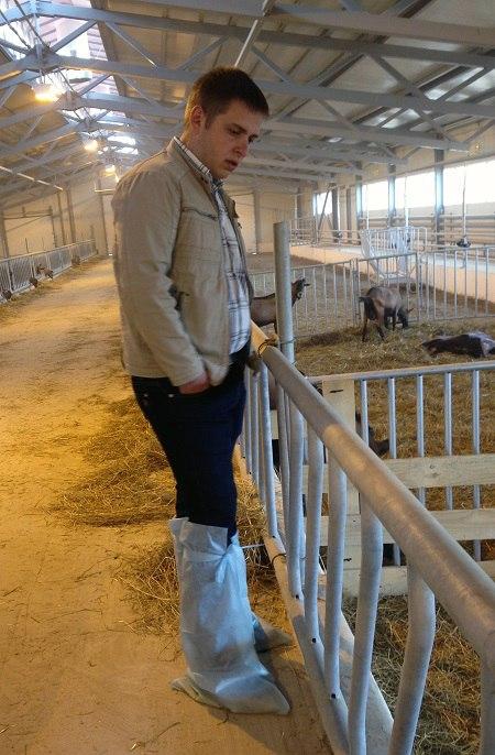 Сергей Ануфриев, управляющий фермой. Фото: Екатерина Русилова / «Русская планета»
