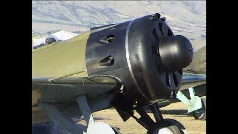 Polikarpov I 16 Pilot Mark Hanna at Wanaka New Zealand 1998